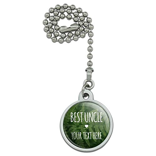 GRAPHICS & MORE Personalized Custom 1 Line Best Uncle Fern Leaves Ceiling Fan and Light Pull Chain