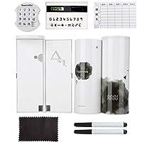 ボーイズ・ガールズ・スクール文具用ミラー電卓とNewmeBox多機能鉛筆ボックス大容量ペンケースペンボックス,水墨画 - gift1