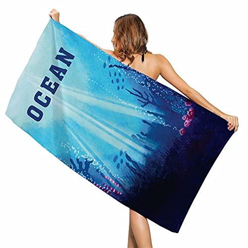 Toalla de microfibra para niños, 80 x 160 cm, toalla de baño absorbente, toalla de playa, viaje, piscina, picnic, toalla de playa