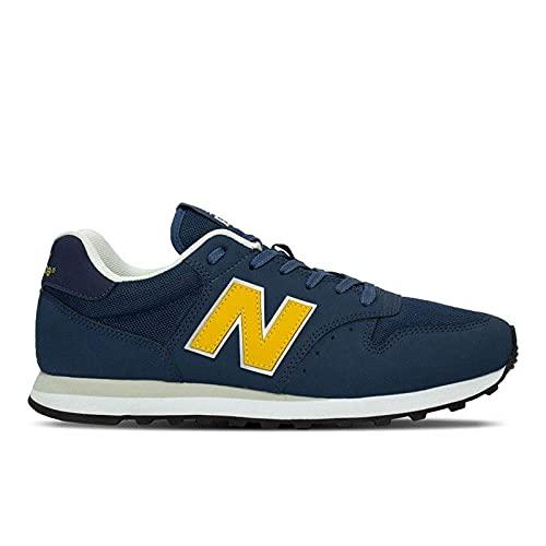 Tênis New Balance 500, Masculino, Azul/Amarelo, 41
