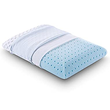 Comfort & Relax Ventilated Memory Foam Bed Pillow with AirCell Technology, Standard, 1-Pack