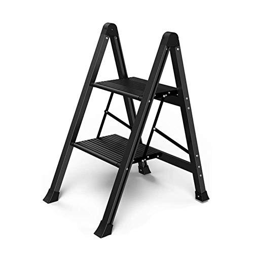 CHENXU Pequeña Escalera Multiusos Taburete de Paso portátil, Ahorro de Espacio, con Pedal Antideslizante y Ancho, Ideal para Cocina en casa, Peso Muerto de 150 kg (Size : A)