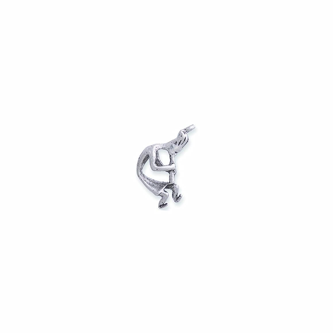 Shipwreck Beads Pewter Kokopelli Charm, Silver, 13 by 26mm, 4-Piece