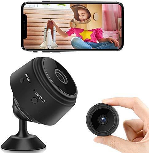 Mini Spy Camera with Audio, WiFi Wireless Hidden Camera 1080P Full HD,...