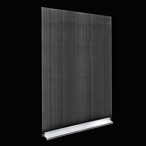Mampara de protección de policarbonato celular   separador para industrias, fabricas, puestos de trabajo, hostelería y restaurantes (100 cm ancho x 150 cm alto)