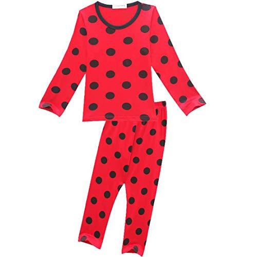 wetry - 2pcs Pijamas de Lunares DisfracesTraje de Mariquita