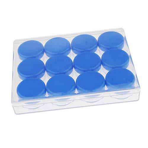 Sharplace 12pcs 10g Pot Vide en Plastique Récipient Cosmétique avec Couvercle pour Échantillon de Crèmes Stockage de Maquillage - Bleu