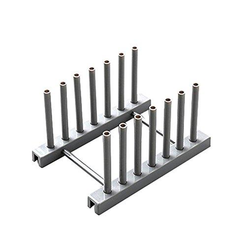 Li-HIM Rutschhemmende Abtropfbrett, Langlebige Abnehmbare Einfach Zur Installation Schüssel Tassen Für Die Küche Setzen Kann,Grau