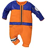 Bebkuebe Naruto Outfit Baby Costume, Cute Infant Toddler Onesie Cool Newborn Cosplay Romper Cartoon Pajamas Clothes (Orange, 12-24 Months)