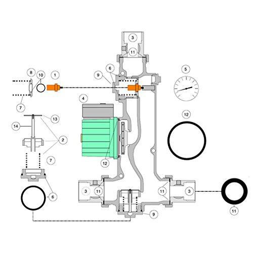 Ersatzteilset Umlaufventileinsatz für Laddomat 21