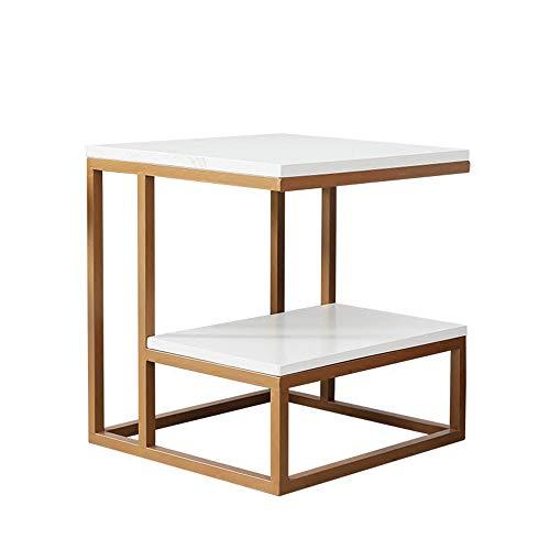 Table huo Centre Couette de canapé Centre de café Petite Table de Chevet de Balcon Mini carré table-45 * 45 * 50 cm Multifonctionnel Or