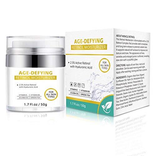 Isend Crema hidratante de retinol para la cara...