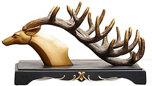TAIDENG Ornamentos de ciervo elegante estante de botella de vino de resina para el hogar, bar, hotel, decoración de mesa, soporte de vino, botella única decorativa para servir estante de vino