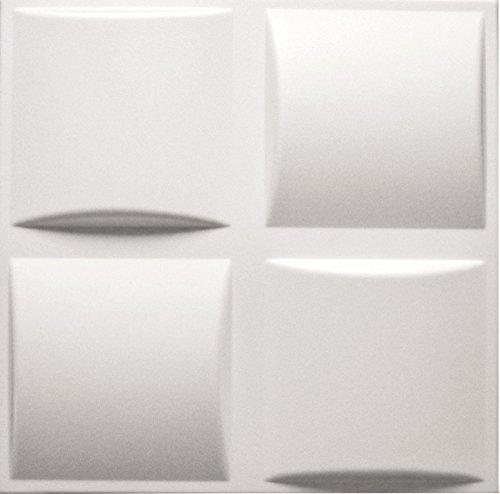 Paneles Decorativos De Pared 3D - Tableros de Pared 3D - Revestimiento de Pared 3D - Pillows - Blanco - Paquete 40 piezas / 10 m2