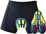 OKBONN Calzoncillos Ropa Interior Ciclismo Pantalones Interiores Ciclismo Pantalones Cortos y Ligeros con 3D Gel (20D)