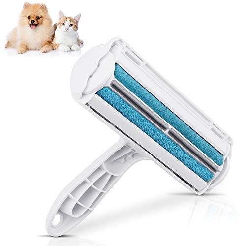 VPOW Fusselrolle Tierhaare, Fusselrolle für Katzenhaare Hundehaar Kaninchen-Haar, Bidirektionale Fusselbürste, ideales Tierhaarentferner Geeignet Sich für Bett, Sofa, Teppich, Kleidung
