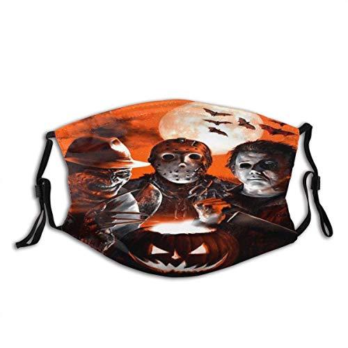 Face mask reusable Halloween Scary Killer Freddy Jason Michael Chucky Horror Movie Themed Holiday Balaclava Unisex Reusable Windproof Anti-Dust Mouth Bandanas Outdoor Neck Gaiter Made in USA