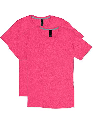 Hanes Men's 2 Pack X-Temp Performance T-Shirt, Neon Pink Heather, 3X-Large