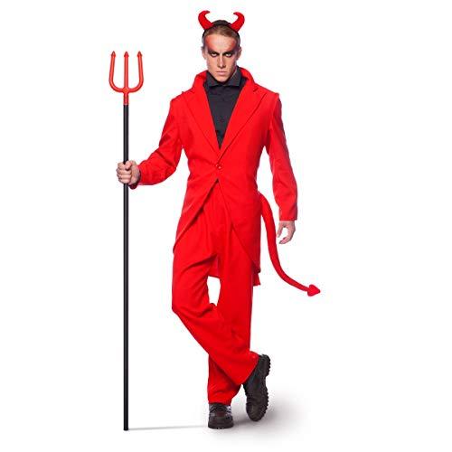 Folat 63426 - Tuta da Diavolo Rosso per Halloween, Carnevale (M/L)