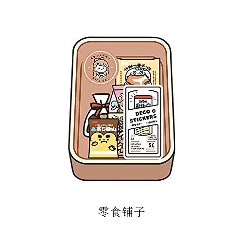 PMSMT 40 Piezas/Paquete Mini Pegatinas para Aperitivos Transparente Pet Diario Adhesivo Decorativo Diario papelería Coreana álbum de Recortes Lindo Kawaii
