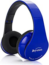 Beyution Noise Canceling Wireless Bluetooth Headset, Over-ear Perfect Ergonomic Extendable Headband Design with Micphone fit for Hand-free Calling Compatible with iPhone 8 7 6 5s (BT (BT513-RoyalBlue)