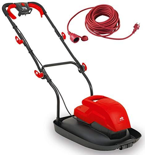 Grizzly Tools Luftkissen-Mulchmäher - Leichter elektrischer Luftkissen-Rasenmäher mit 1600 W Leistung (Luftkissenmäher + 20 Meter Kabel)