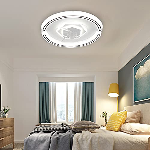 Ventilador Techo Con Luz Moderno Silencioso Ventilador Techo Led Y Mando A Distancia Lampara Ventilador Dormitorio Ventilador Y Plafón De Techo Regulable Ajustable Velocidad Del Viento Iluminacion,B
