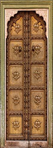 Art Déco Sticker – Türtapete Deko – alte orientalische Tür Maße – 63 x 204 cm