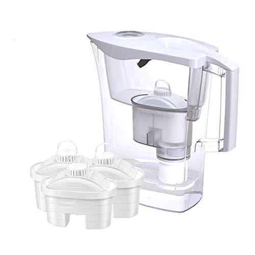 Sdesign Jarra de Filtro de Agua alcalina con Cartuchos de Filtro: Produce alcalino - Libre de BPA: rentable - Simple de Usar - Filtro de la Taza de Agua portátil del Filtro