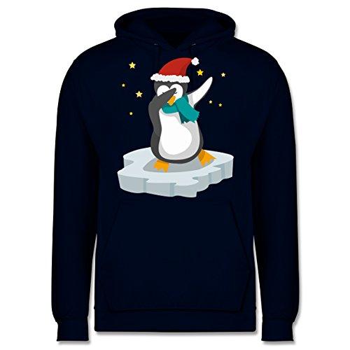 Weihnachten & Silvester - Dab Pinguin Weihnachten - M - Navy Blau - Pinguin dab - JH001 - Herren Hoodie und Kapuzenpullover für Männer