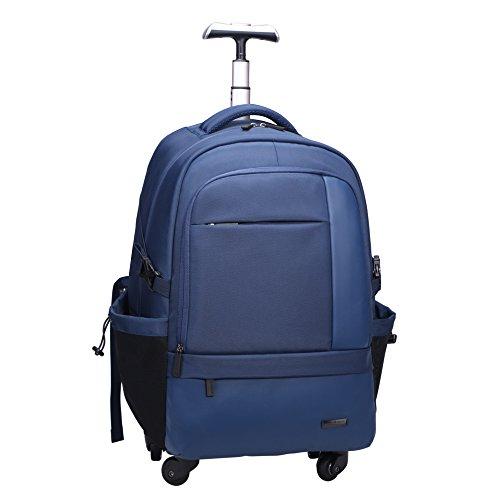 クロース(Kroeus)キャリーバッグ ソフト 3way 手提げ 機内持込 トロリーバッグ 人気 軽量 大容量 スーツケース 4輪キャスター リュック 旅行 出張 撥水加工 ブルー