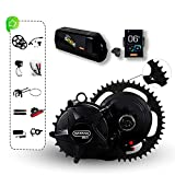 BAFANG Mid Drive Motor Kit Electric Bicycle Conversion Kit Central Motor 50.4V 750W 68mm 100mm for Road Bike with 50.4V 19Ah Removable Lithium Battery (New DIY Model Series) for MTB, City Road Bike