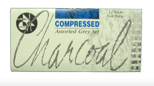 Jakar 7623 - Bastoncini di carbone compresso assortiti, confezione da 12