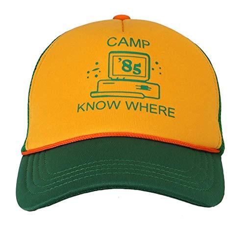 Yacn Stranger Things Hat - Gorra de béisbol para niños y adultos green yellow L