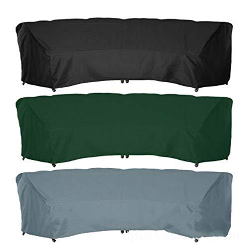 FYZS Patio Curvado sofá Cubierta, al Aire Libre seccional Cubierta Muebles, Silla clásica Entre los Accesorios de la Cubierta Ocio, Arco sección Sofá Cover (Color : Gray, Size : 483x99x92cm)