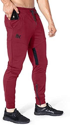 BROKIG Mens Thigh Mesh Gym Jogger Pants Men s Casual Slim Fit Workout Bodybuilding Sweatpants product image