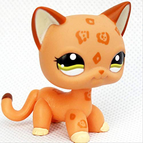 LPS CAT Pet Shop Toys Rare Stands Little Short Hair Kitten Pink #2291 Gris # 5 Negro # 994 Old Original Kitty Figura Colección A 1120#