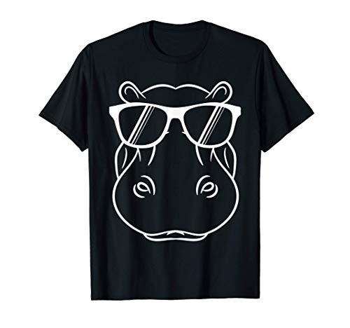 Regalo de hipopótamo - Hipopótamo fresco y lindo con gafas Camiseta