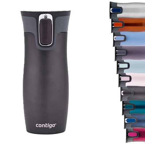 Contigo West Loop Autoseal Thermobecher, Edelstahl Isolierbecher, Kaffeebecher To Go, BPA frei, auslaufsicherer Reisebecher mit Easy-Clean-Deckel, hält bis zu 5h warm, 470 ml