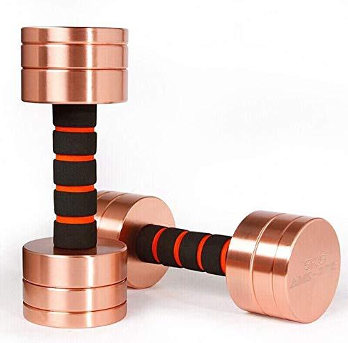 Einstellbare Hantel Stahlbeschichtung Sport Hanteln Herren Fitnessgeräte Heimtraining Arm Muskelbeschichtung,2.5kg*2
