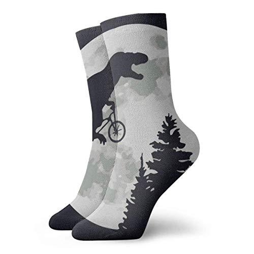 Dinosaurio bicicleta Luna 30cm/11.8inch calcetines largos atléticos algodón ocio medias