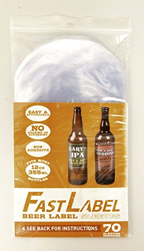 FastLabel Fermentation Accessories - Standard 12oz Beer Bottle labels - Never scrub a bottle again brought to you by FastFerment