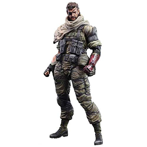 SOME For Phantom Pain Action Figure for Venom Snake Metal Gear Solid - Equipped With Weapons And Replaceable Hands - High 25CM