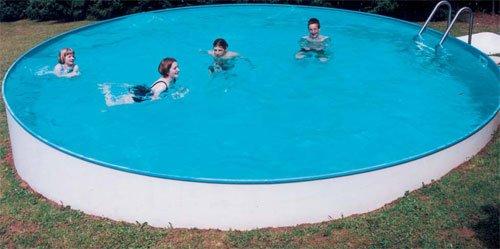 Schwimmbecken-Tiefbeckenset 5m 1,50m tief mit Verrohrung