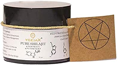 Shilajit Ayurvedic, Authentic shilajit, Himalayan shilajit, Indian Shilajit, Mineral Supplements- Semi Liquid Resin extracted via Ayurveda Method- Harvested at 16000' Altitudes by ygeiax - 30 GMS