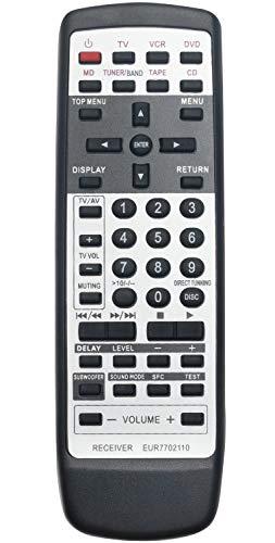 ALLIMITY EUR7702110 Fernbedienung Ersetzen für Panasonic AV Receiver SA-HE70E-S SA-HE9 SA-HE9EGS SC-HE7