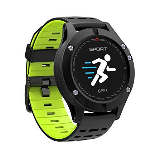 WANGJIA Reloj para Hombre F5 Smartwatch Ip67 GPS Impermeable Seguimiento Bluetooth Reloj Detección De Frecuencia Cardíaca Verde