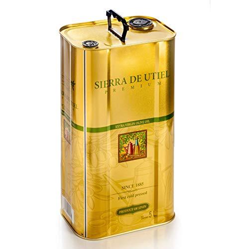Sierra de Utiel - Natives Olivenöl Extra Premium - 5 Liter Kanister - 100{13a11fcf876375c983c467808c25f36238aebfc2008d691b8964a3ce24520585} Naturprodukt aus Spanien