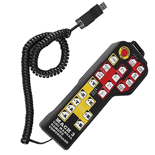 Controlador de la máquina de grabado manual grabado controlador CNC de 4 ejes USB para Mach 3 Negro