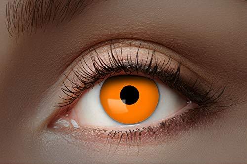 Eyecatcher 84027541-300 - Farbige UV-Kontaktlinsen, 1 Paar, für 12 Monate, Orange leuchtend, Karneval, Fasching, Halloween